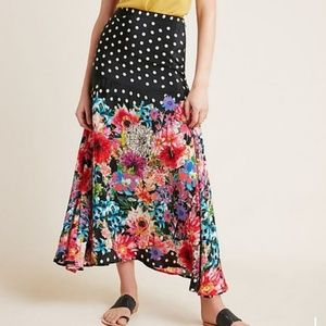 Anthro Pattern Play Maxi Skirt Size L
